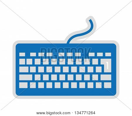 computer keyboard isolated icon design, vector illustration  graphic