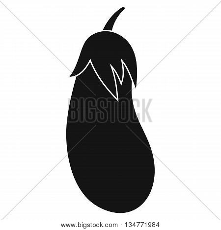 Eggplant icon in simple style isolated on white background