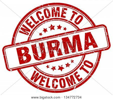 welcome to Burma stamp. welcome to Burma.