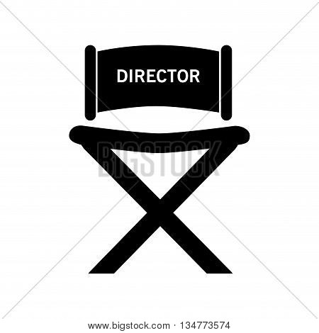 black director chair with white letters on top vector illustration isolated over white