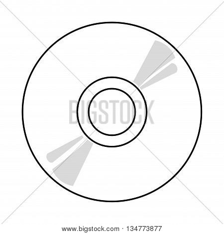 black and grey cd vector illustration isolated over white