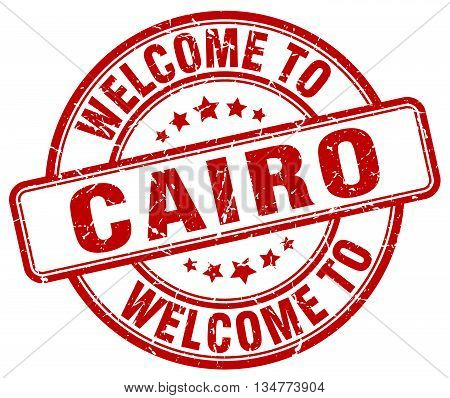 welcome to Cairo stamp. welcome to Cairo.