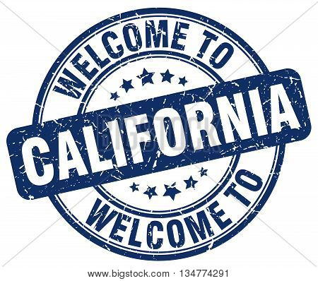 welcome to California stamp. welcome to California. vector