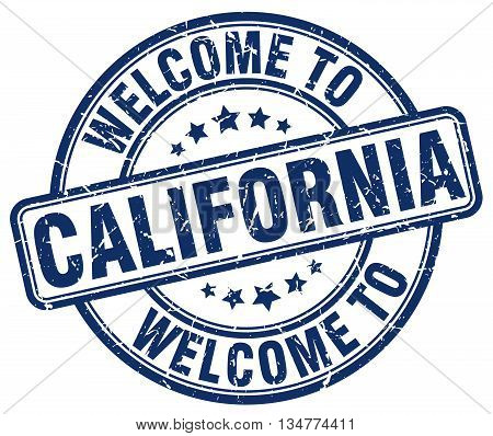 welcome to California stamp. welcome to California.