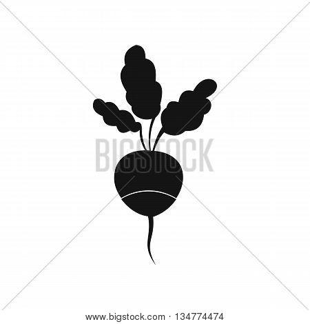 Fresh radish icon in simple style isolated on white background