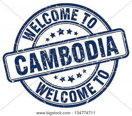 welcome to Cambodia stamp. welcome to Cambodia. vector