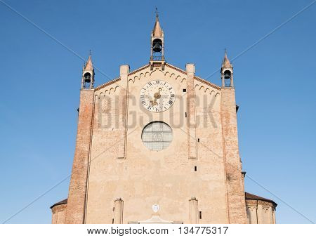 Detail of the gothic cathedral of Montagnana Padova Italy.