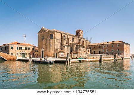 Church of Saint Dominic built on an island in Chioggia Venice Italy.