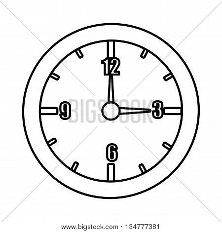 isolated orbed watch with numbers over isolated background, vector illustration