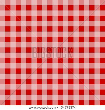 Seamless gingham pattern background - red squares