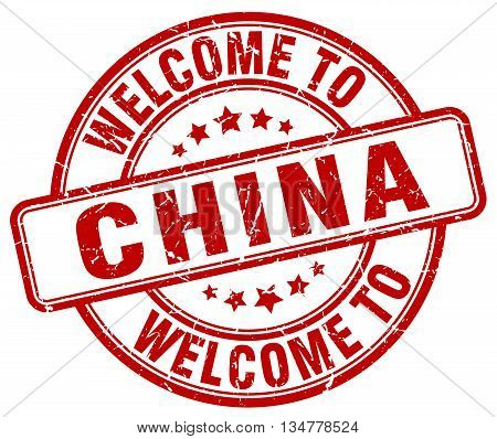 welcome to China stamp. welcome to China.