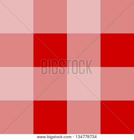 Seamless gingham pattern background - light red