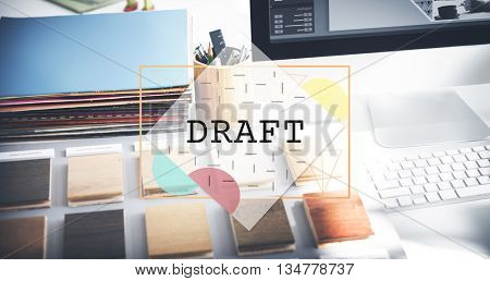 Draft Creative Drawing Interior Layout Sketch Concept