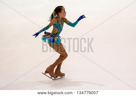 Orenburg, Russia - 26.03.2016: Competitions Girls Figure Skater.