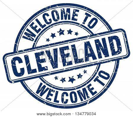 welcome to Cleveland stamp. welcome to Cleveland.