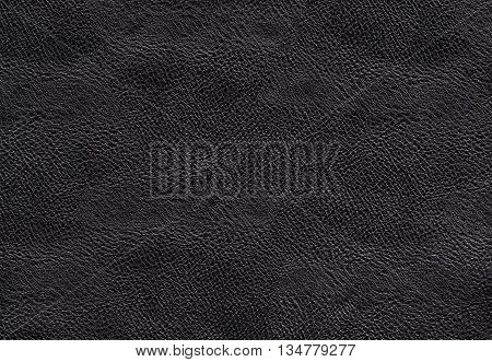 Black dark leather texture background. Black handbag leather. Closeup black texture skin. Leatherwork structured.