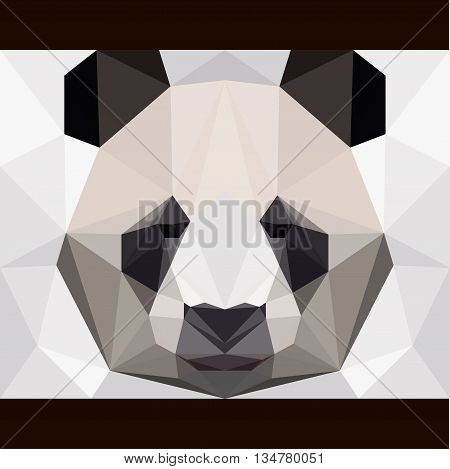Panda bear card template for use in design