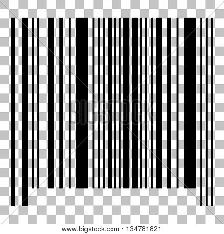 Bar code sign. Flat style black icon on transparent background.
