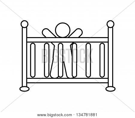 Pictogram of Family design about  baby  illustration, flat and isolted design