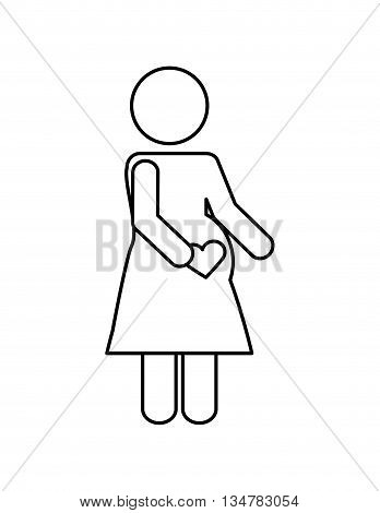 Pictogram of Family design about mother   illustration, flat and isolted design