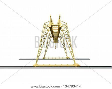 3D Rendering Of A Hoisting Crane