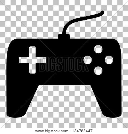 Joystick simple sign. Flat style black icon on transparent background.