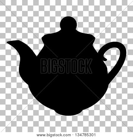 Tea maker Kitchen sign. Flat style black icon on transparent background.