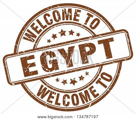 welcome to Egypt stamp. welcome to Egypt.