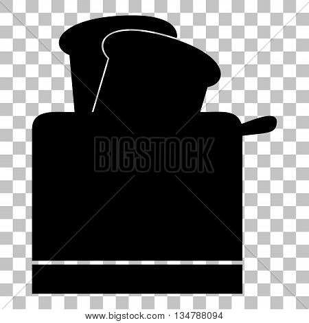 Toaster simple sign. Flat style black icon on transparent background.