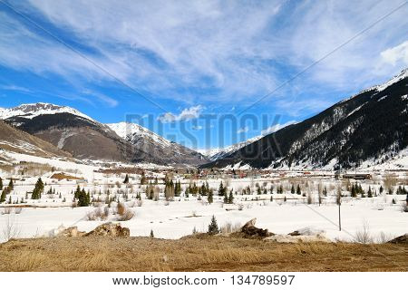 The historical town of Silverton in Colorado