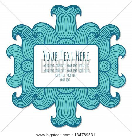Vector frame for text with an image of the sea waves