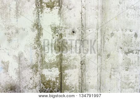 Concrete wall with little hole and humidity