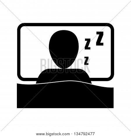 health care concept represented by pictogram slepping icon,  flat and isolated design