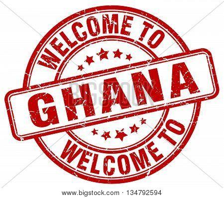 welcome to Ghana stamp. welcome to Ghana.