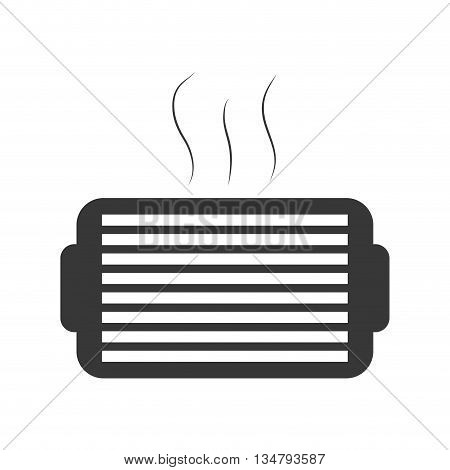 air representated by traditional fan machine design over isolated and flat illustration