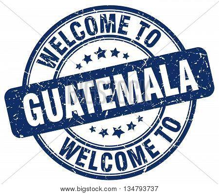 welcome to Guatemala stamp. welcome to Guatemala.