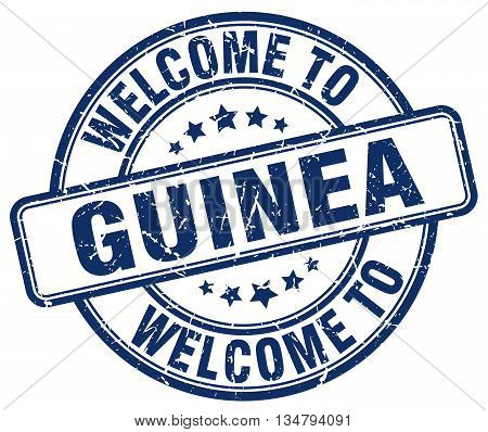 welcome to Guinea stamp. welcome to Guinea.