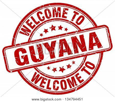 welcome to Guyana stamp. welcome to Guyana.