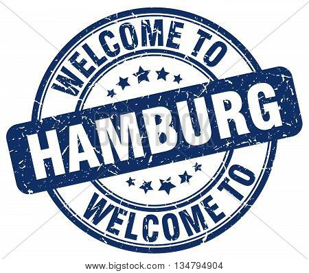 welcome to Hamburg stamp. welcome to Hamburg.