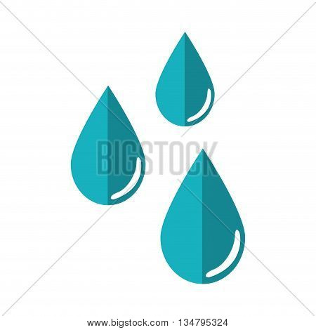 Weather representated by drops  figure design over isolated and flat illustration