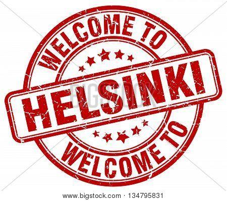 welcome to Helsinki stamp. welcome to Helsinki.