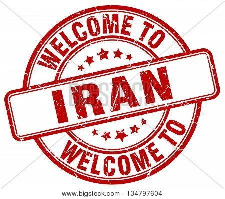 welcome to Iran stamp. welcome to Iran.