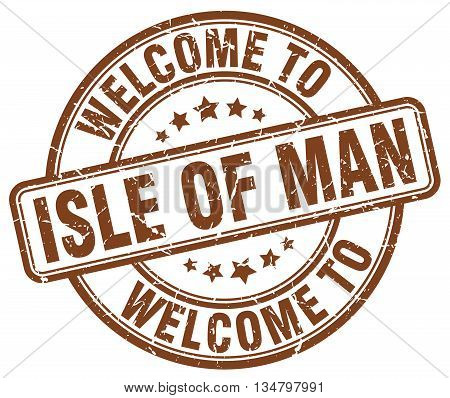 welcome to Isle Of Man stamp. welcome to Isle Of Man.
