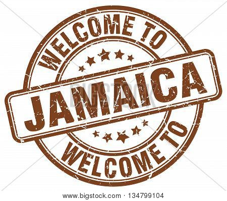 welcome to Jamaica stamp. welcome to Jamaica.