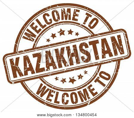 welcome to Kazakhstan stamp. welcome to Kazakhstan.