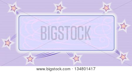 gray stars on a pink background plate with divorce