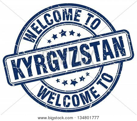 welcome to Kyrgyzstan stamp. welcome to Kyrgyzstan.