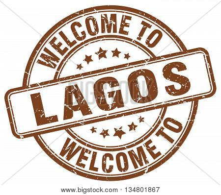 welcome to Lagos stamp. welcome to Lagos.
