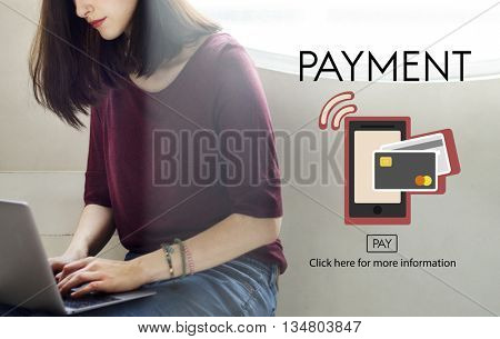 Payment NFC Near Field Communication Mobilel Wallet Online Concept