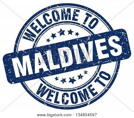 welcome to Maldives stamp. welcome to Maldives.